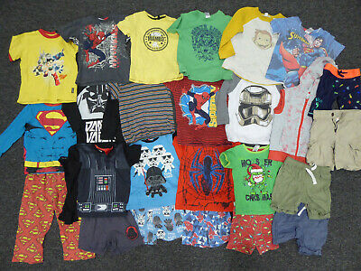 Bulk Lot Boys Play Clothes Size 3 Spider Man Star Wars Lego Astro Boy Superman