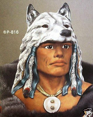 Ceramic Bisque Warrior with Wolf Headdress Provincial 816 U-Paint Ready To Paint