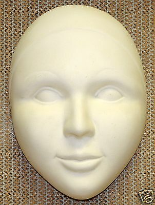 Ceramic Bisque Pierrot Mask Duncan Mold 1563 U-Paint Ready To Paint