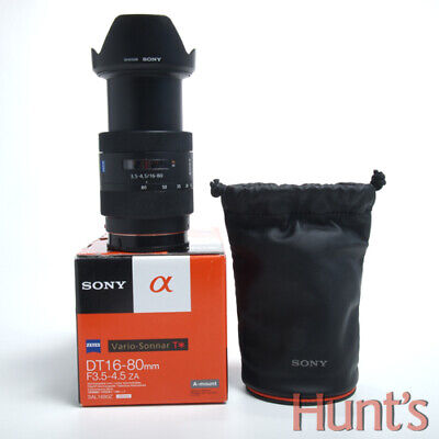 SONY CARL ZEISS VARIO-SONNAR DT 16-80mm f3.5-4.5 ZA T* AUTO FOCUS A MOUNT LENS