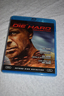 Die Hard: The Ultimate Collection (Blu-ray Disc, 2009, 4-Disc Set) Discs Mint!