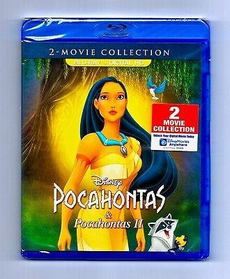 NEW - Pocahontas I & II 2 Movie Collection Blu-ray & Digital HD Authentic Disney