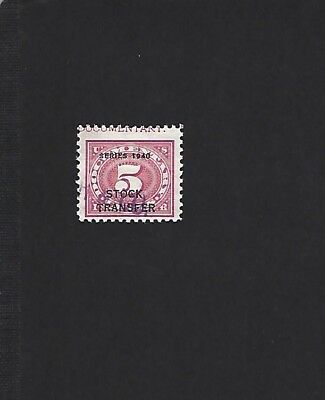 US revenue stock transfer stamp, RD46, with partial imprint