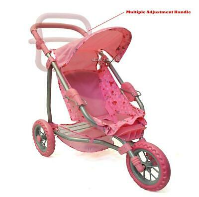 Foldable Kids Doll Joggers Prams Strollers Or Pet Toy Gifts Ideas Pink Hearts