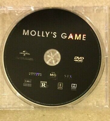 Molly's Game on DVD, Used, 2018 Jessica Chastain & Idris Elba film
