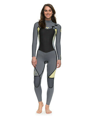 NEW ROXY™  Womens 4/3mm Syncro Plus LFS Chest Zip Steamer Wetsuit Womens Surf