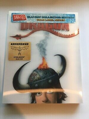 How to Train Your Dragon 3D + 2D Blu-ray Steelbook HDzeta Lenticular Slip NEW