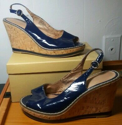 5ba174ba4365 ... Ankle Ties Open Toe Women Shoe Size 7 EUC.  12.00 Buy It Now or Best  Offer 8d 1h. See Details. OLD~NAVY~Blue~Leather~Slingback~Platform ~Wedge  Heeled~ ...