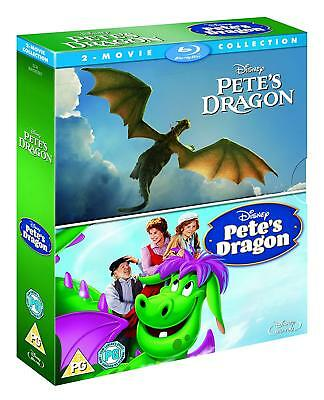 Pete's Dragon Animated + Live Action Double Pack 1 2 (Blu-ray, 2 Discs, Disney)
