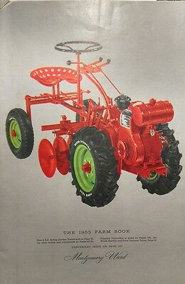 Montgomery Ward 1955 Farm Catalog FULL COLOR Midland Lawn Garden Tractor 184pg