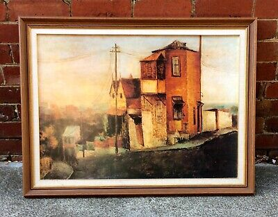 Sali Herman House on the hill original 1960s print and frame
