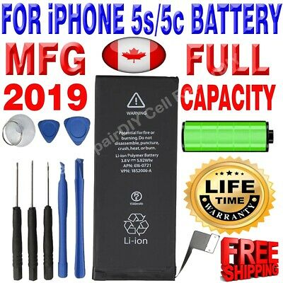 Brand NEW OEM Replacement iPhone 5S/5C Battery 1560 mAh with Free Tools