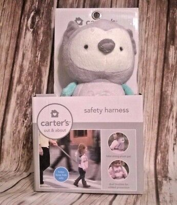 Carter's child toddler Pastel Gray Green OWL safety harness, backpack New in box
