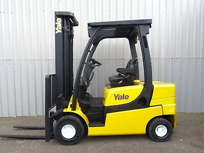 YALE GDP25LX. 3800mm LIFT. USED DIESEL FORKLIFT TRUCK. (#2338)