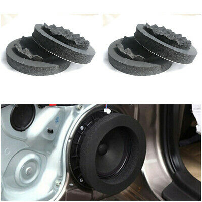 """6.5"""" Car Door Speaker Bass Ring Woofer Pad Noise Sound Wave Insulation Ring 4PC"""