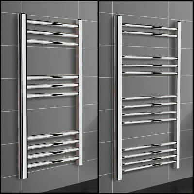 Modern Chrome Heated Towel Rail Radiator Bathroom Straight Ladder Warmer