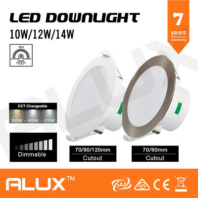 10W/12W/14W Cct Colour Changing Dim Led Downlight Ip44 Warm/Cool/Daylight White