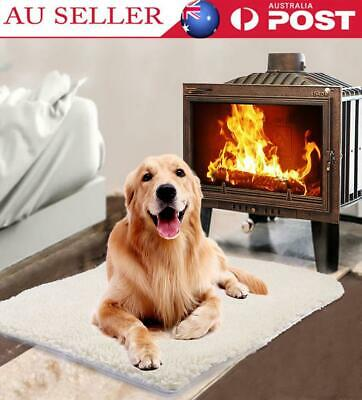 Pet Heat Heated Heating Heater Pad Warm Mat Blanket Bed Dog Cat Bunny No Plug