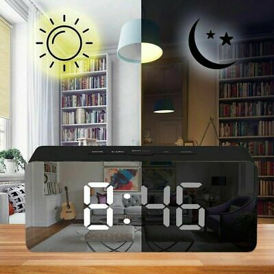 LED Digital Alarm Clock Night Lights Wall Clock W Date Thermometer New Nice