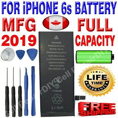Brand NEW OEM Replacement iPhone 6S Battery 1715 mAh with Free Tools