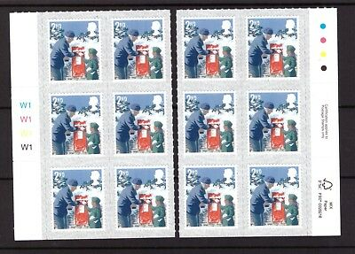 Great Britain 2018 Christmas 2nd class block cylinder,traffic light mint stamps