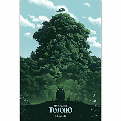 Z-2156 Hot My Neighbor Totoro Studio Ghibli Japan Anime Silk Art Poster Decor