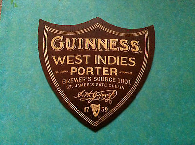 ►►rare limited wooden coaster GUINNESS West Indies Porter NOT CARDBOARD coaster