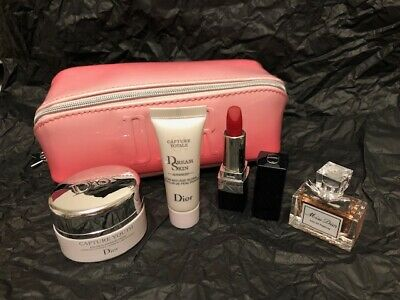 Dior Miss Dior 5 Piece Beauty Set With Bag, Sample Size Travel Size