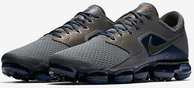 Nike Air Vapormax R Mesh CS Running Shoes Midnight Fog Gray Blue 10.5 AJ4469-002