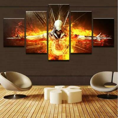 Framed Games Assassin's Creed Movies Canvas Prints Painting Wall Art Decor 5PCS
