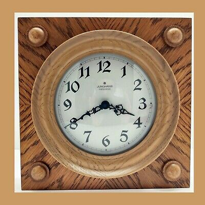 Vintage german wall clock JUNGHANS Rare RESONIC mechanism retro old vintage wood