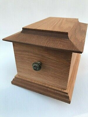 Solid Oak Pet / Cat / Dog, Cremation Urn / Casket