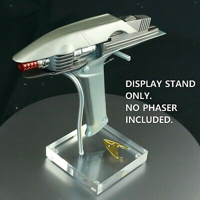 Star Trek, QMX Into Darkness,  Phaser Display Stand,  TOS Badge, High Quality