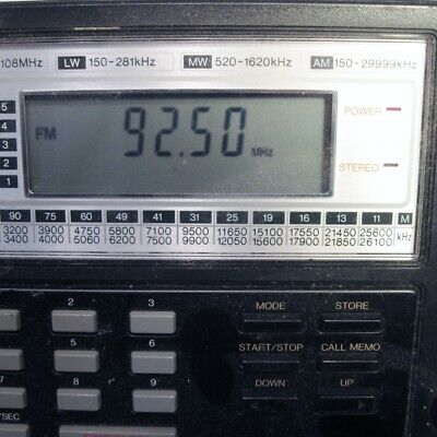 Sangean ATS-803A AM FM SW LW MW World Band Receiver For Parts or Repair