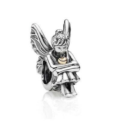 Authentic Pandora Silver Charm Beads Pixie Two tone 14k  Gold 791206 #15