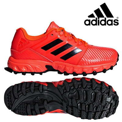 adidas Field Hockey Lux Junior Shoes Kids Boys Girls Red Sports Trainers SALE