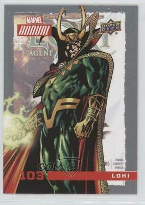 2016 Upper Deck Marvel Annual #103 SP Loki Non-Sports Card t4m