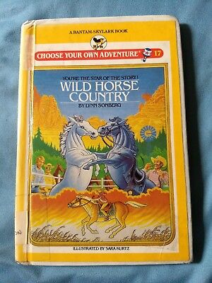 HC hardcover book CHOOSE YOUR OWN ADVENTURE vintage # 17 Wild Horse CYOA 1984