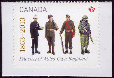 """CANADA 2013 booklet single, #2635 """"P"""" The Princess of Wales' Own Regiment MNH"""