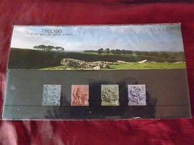 Royal mail England, the definitive stamps set of 4 in a presentation pack
