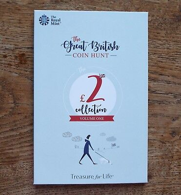 2019 Official Royal Mint Great British Coin Hunt £2 Album - Volume 1 - Brand New