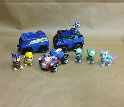 Spin Master Paw Patrol Rescue Vehicles Rocky Rubble Everest Chase Lot