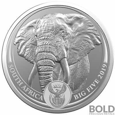 2019 Silver South Africa Big Five Elephant BU - 1 oz