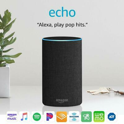 Amazon Echo (2nd Generation) Smart Speaker with Alexa - All 3 Colors