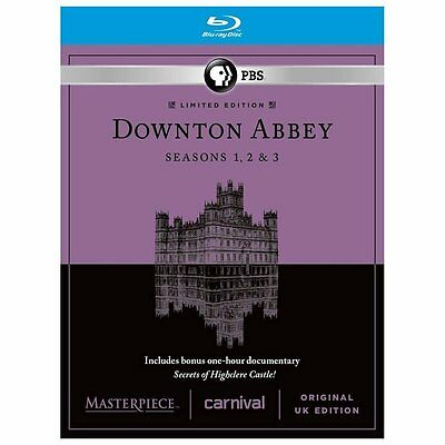 Masterpiece: Downton Abbey - Seasons 1-3 (Blu-ray Disc, 2013, 9-Disc Set)