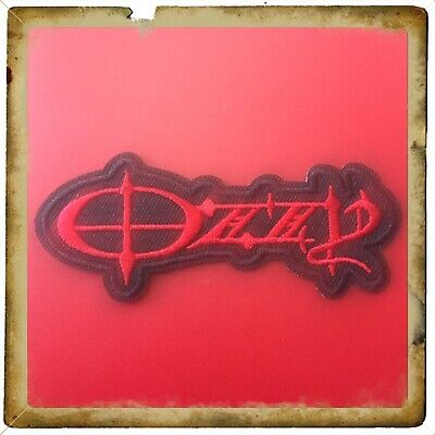 🇨🇦 OZZY Logo Rock Punk Embroidered Patch Sew On/stick On Cloth/new 🇨🇦