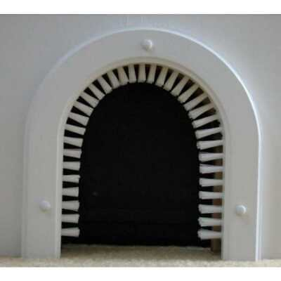 CatHole-Cat Door with a Brush-Hides the Litterbox Behind Closed Doors-NEW 5.5 in
