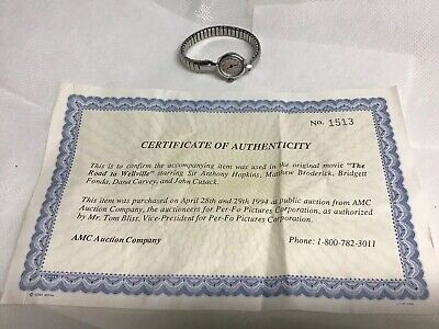 Movie Prop-Watch W/certificate Of Authenticity