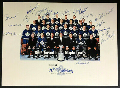 d770df722 1967 Stanley Cup Champion Toronto Maple Leafs Team Signed 30th Anniversary  Photo