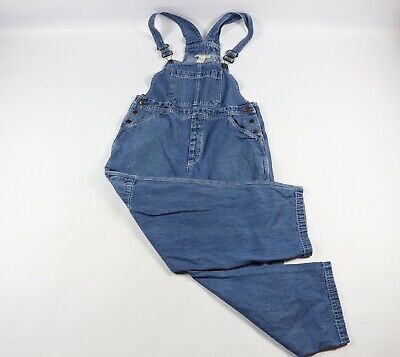 459949563134e5 Vintage 90s Smith & Hawken Mens Large Denim Jean Overalls Pants Blue Cotton